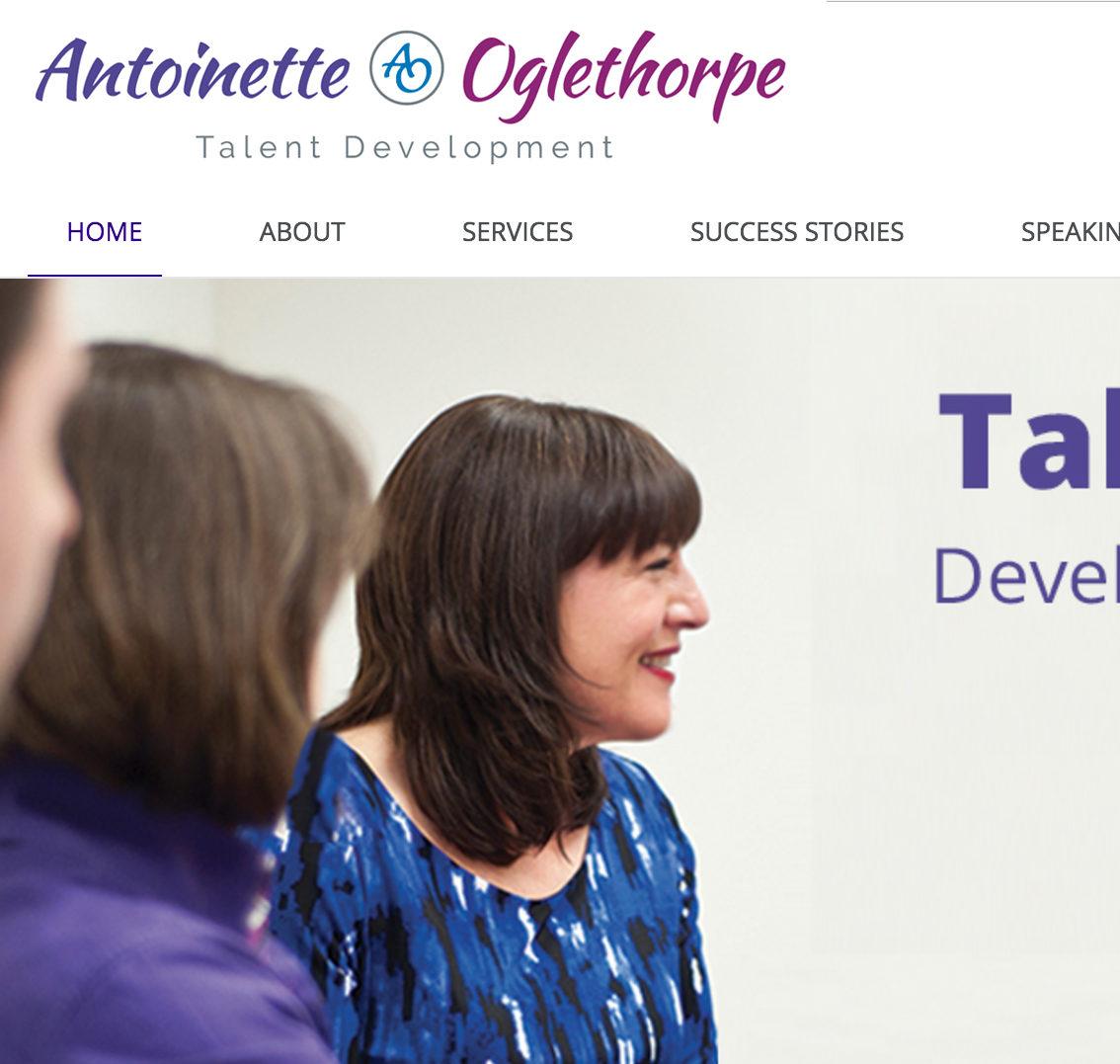Antoinette Oglethorpe Old Website needs Rebrand