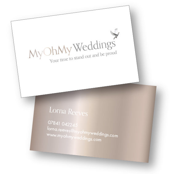 Business Card design for My Oh My Weddings by InnerVisions ID Branding Consultancy - London