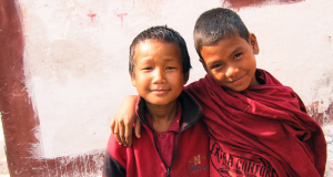 B1G1 image of two Buddhist children